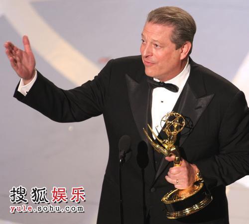 图:美国前副总统戈尔获得最佳互动电视奖
