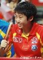 图文:女团中国3-0中国澳门 郭跃场下偷乐