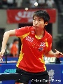 图文:女团中国3-0中国澳门 郭跃侧身发球