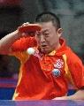 图文:乒乓球亚锦赛男团 马琳高接低挡所向披靡