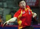 图文:乒球亚锦赛男团小组赛 面目狰狞大力抽杀