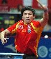 图文:乒乓球亚锦赛男团小组赛 陈�^威风八面