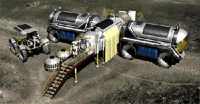 月球基地幻想图
