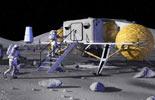 人类月球基地模拟图