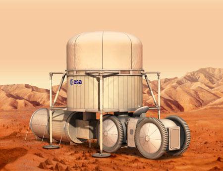 月球科考设备模拟图