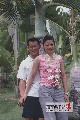 图文:张国政与爱妻幸福生活 高挑的爱妻