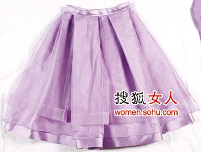 紫色纱裙christian   dior