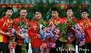 图文:[乒乓]亚锦赛中国男团夺冠 中国接受颁奖