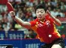 图文:亚乒赛男团胜日本夺冠 马龙反手回球