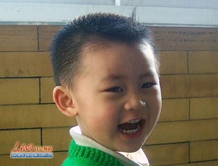 图文:奥组委全球征集儿童笑脸 儿童帅气笑脸