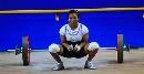 图文:女子53kg抓举赛 泰国选手试举92公斤失败