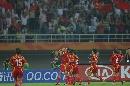图文:[世界杯]中国VS新西兰 李洁庆祝进球
