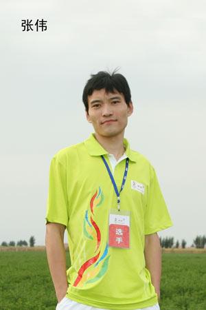 奥运健康大使选拔晋级赛 摸高组选手张伟