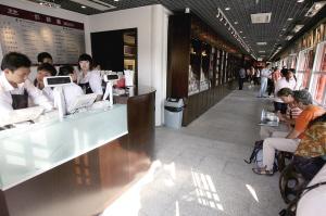 故宫特色文化商品专卖店内的咖啡室。本报记者 张斌 摄