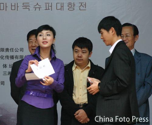 资料图:李世石九段(右)