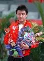 图文:亚乒赛男单王皓4-0马龙夺冠 冠军领奖台