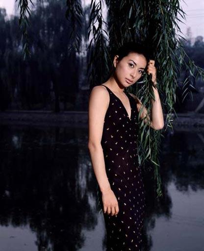图文:出水芙蓉郭晶晶魅力写真 夜色下的美人