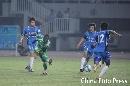 图文:[中超]北京3-0青岛 小马丁低射破门