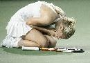 图文:[中网]扎维夺女单冠军 扎维兴奋得落泪