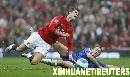 组图:[英超]曼联主场2-0胜切尔西 小小罗遭飞铲