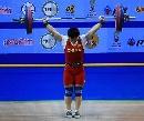 图文:世锦赛女子69公斤级 刘春红抓举夺得冠军