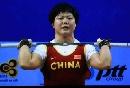 图文:世锦赛女子69公斤级 刘春红在挺举比赛中