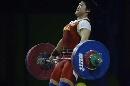 图文:世锦赛女子69公斤级 刘春红挺举获得亚军