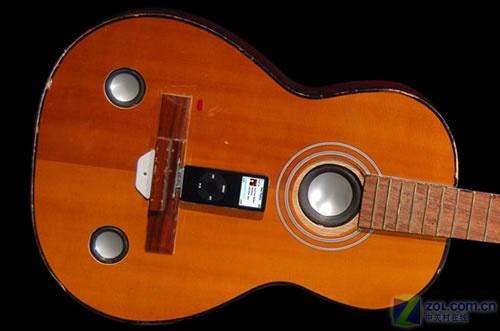 最佳创意 废吉他变身成iPod音响