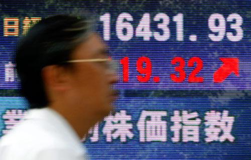 9月25日,日本东京,受福田康夫当选新任首相消息的影响,日本股市开始上扬。
