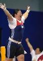 图文:举重女子75公斤以上级 张美兰凭体重夺冠