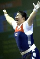 图文:韩国选手张美兰夺得+75KG两金 夺冠瞬间