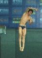 图文:男子十米台小将林跃摘金 林跃腾飞时刻