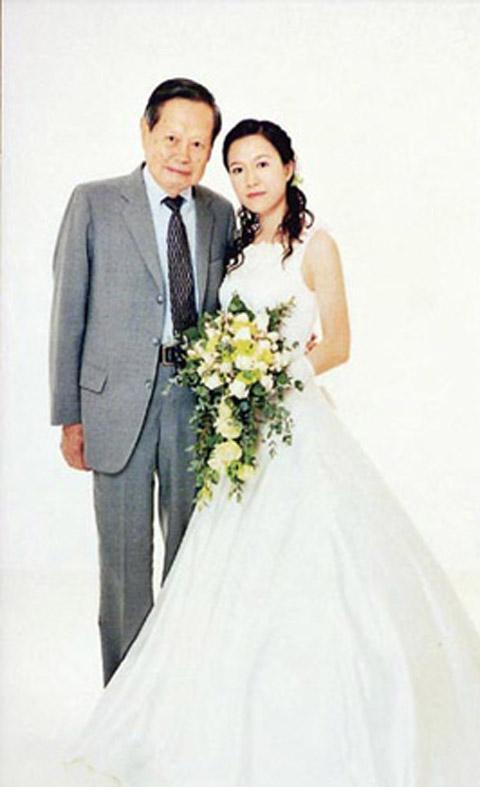 二人的结婚照