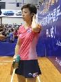 图文:女乒世界杯美女裙装 张怡宁的深蓝短裙