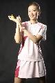 图文:女乒世界杯美女裙装 粉红色性感球裙