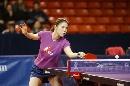 图文:女乒世界杯美女裙装 王楠的蓝色短裙