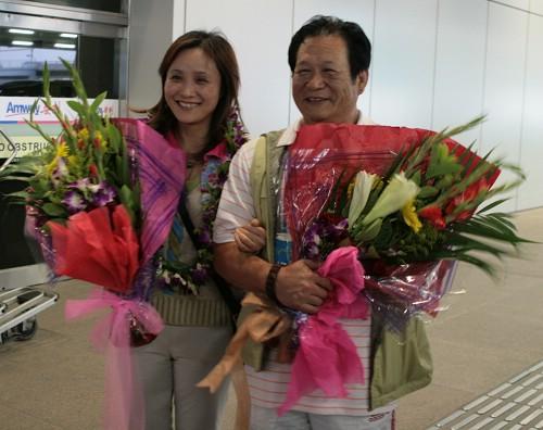 马文广与夫人在一起