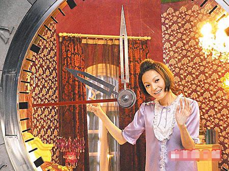 张韶涵到上海拍广告