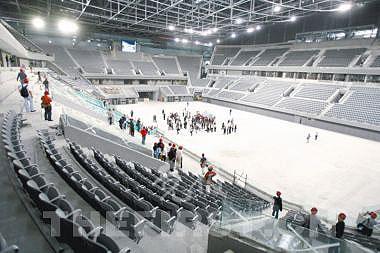 灰色为国际体育馆主色调