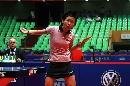 图文:女乒世界杯刘佳穿着裙装 裙装亮相