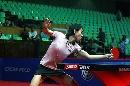 图文:女乒世界杯刘佳穿着裙装 裙角飞扬
