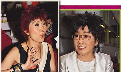 左为关菊英,右为李司棋。关在《溏心风暴》中饰演小老婆,李饰演大老婆。二人在剧中均有出色表现,不过TVB的视后宝座只有一个。