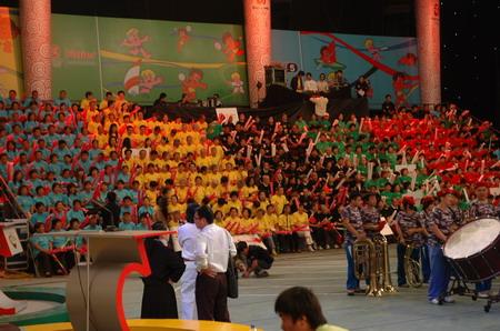 图文:海尔奥运城市行总决赛昨开赛
