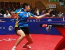 图文:女乒世界杯郭跃4-0吴雪 郭跃奋力一搏