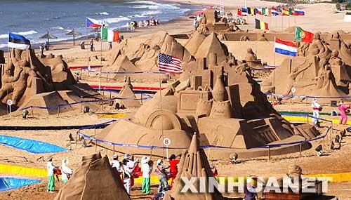 图文:迷人奥运沙雕公园 位于浙江朱家尖岛海滨