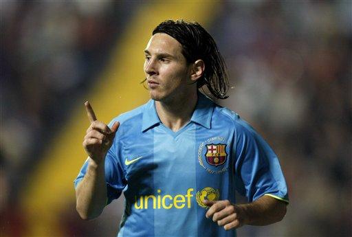 图文:莱万特1-4巴萨 梅西联赛第五球