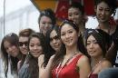 图文:[F1]日本大奖赛美女 迎接你的到来