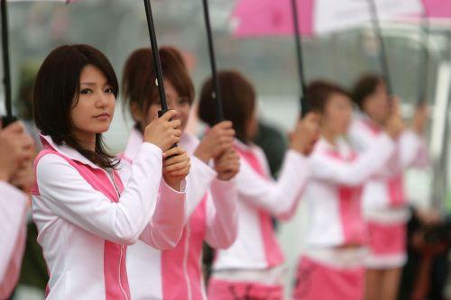 图文:[F1]日本大奖赛美女 头牌的美丽