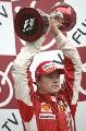 图文:[F1]日本大奖赛正赛 莱科宁表情严肃