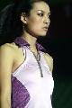 图文:女乒世界杯裙装展示 李宁设计的球裙